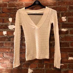 Banana Republic V-Neck Sweater Cotton Blend Wool S